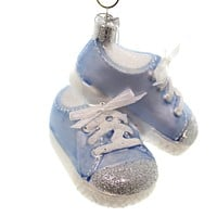 Noble Gems Baby Sneakers Glass Ornament
