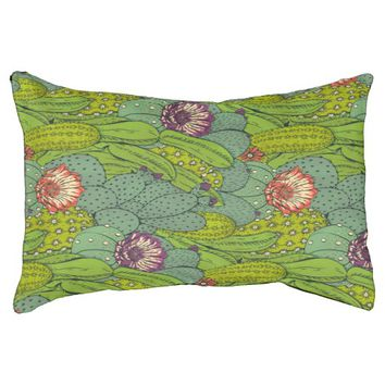 Cactus Flower Pattern Small Dog Bed