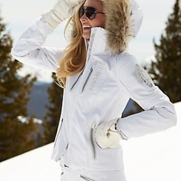 moya-tp white jacket with fur - ski parkas - ski - women - Categories - Gorsuch