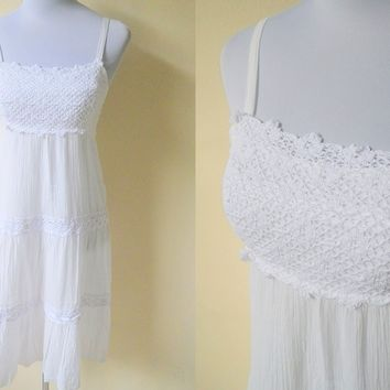Spring / Summer Sale: white gypsy sundress (small)