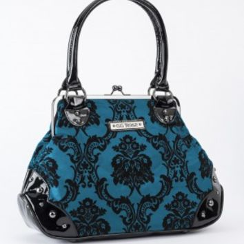 Rock Rebel | Mistress Bayou Blue Kisslock Handbag - Buy Online Australia Tragic Beautiful