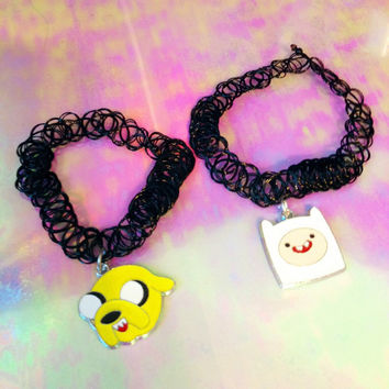 ADVENTURE TIME TATTOO Choker Necklace
