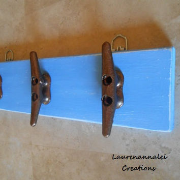 Boat Cleat - Wall Hooks - Wall Coat Rack  - Nautical Nursery Decor - Nautical Decor - Beach House Decor - Beach Cottage Decor