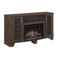 Hampton Bay Grand Haven 59 in. Media Console Electric Fireplace in Dark Cherry-25MM4495-PC72 at The Home Depot