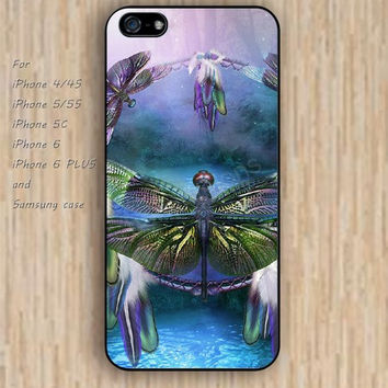 iPhone 5s 6 case dream catcher dragonfly colorful phone case iphone case,ipod case,samsung galaxy case available plastic rubber case waterproof B506