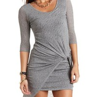 Knotted & Layered Asymmetrical Dress by Charlotte Russe