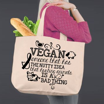 Vegan Gift | Personalized Canvas Tote Bag