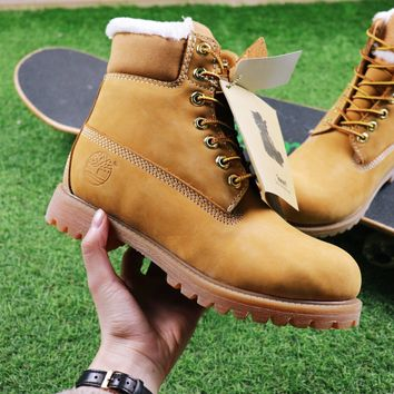 Best Online Sale Timberland Wool Waterproof  Soft Toe Boots Wheat Color