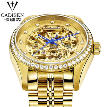 Swiss Luxury Brand CADISEN Watches Men Waterproof Fashion Casual Sports automatic mechanical Watch mens watches top brand luxury