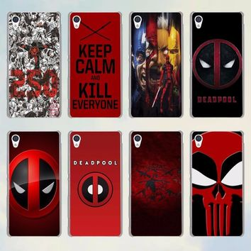 Deadpool Dead pool Taco  Avengers  series style transparent phone Case for Sony Xperia M4 M5 XA C4 C5 C6 z4 z3 z5 premium AT_70_6