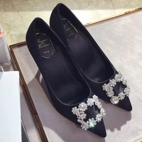Roger Vivier Women Fashion Casual Heels Shoes