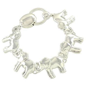 Magnetic Fold Over Closure Elephant Bracelet