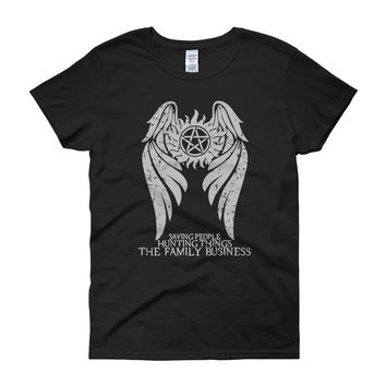 Supernatural Winchester Brothers Hunters Women'S T Shirt