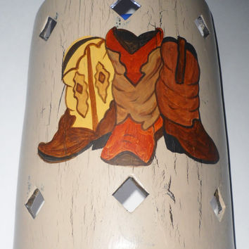 Western Cowboy Boots Interior Wall Sconce