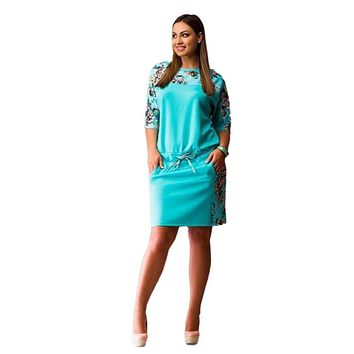 Women Lady Dresses Floral Half Sleeve Party Cocktail Plus Size Dress L-6XL New Arrival