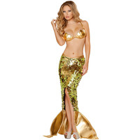 Adult Sweet Mermaid Outfit Fancy Dress Costume Sexy Fairytale Ariel Womens