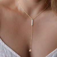 Shiny Stylish Gift New Arrival Jewelry Accessory Fashion Strong Character Simple Design Geometric Necklace [10688849095]