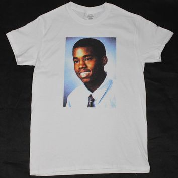 Kanye West Yearbook White T-Shirt S-3XL vintage retro hiphop rap pharrell yeez Mans Unique Cotton Short Sleeves O-Neck T Shirt