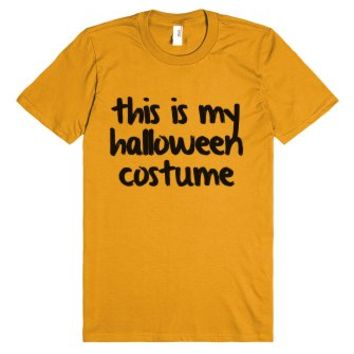 This Is My Halloween Costume Shirt-Unisex Mandarin Orange T-Shirt
