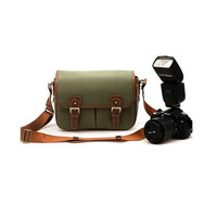 Vintage DSLR Bag Camera Shoulder Bag Leather Bag /army green camel brown khaki black bag -vb150
