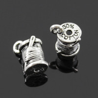 Charms clew needle 20pcs 14*7mm Tibetan Silver Plated Pendants Antique Jewelry Making DIY Handmade Craft