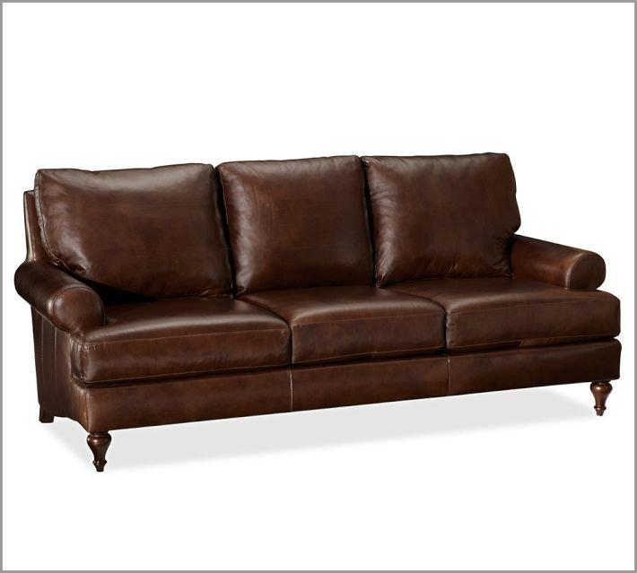 Austin leather sofa pottery barn from pottery barn my home for Leather sectional sofa austin
