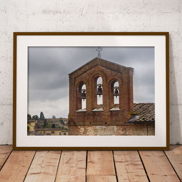 Digital poster Belfry, Italy, Instant download, Italian photography, Printable home decor Аncient architecture Art Print poster, Digital art