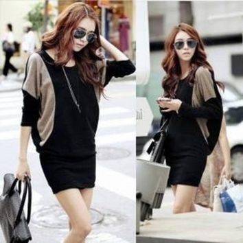 PEAPIX3 2013 plus size batwing sleeve slim knitted one-piece dress long-sleeve winter one-piece dress = 1946889220
