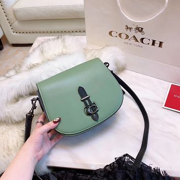 COACH Women Leather Shoulder Bag Crossbody Satchel