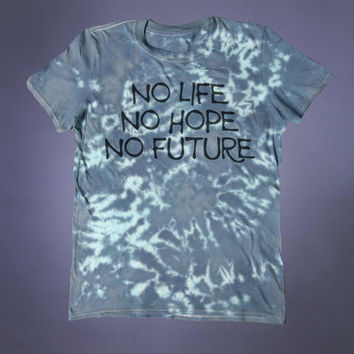Depressed Shirt No Life No Hope No Future Slogan Tee Creepy Cute Emo Soft Grunge 90's Alternative T-shirt