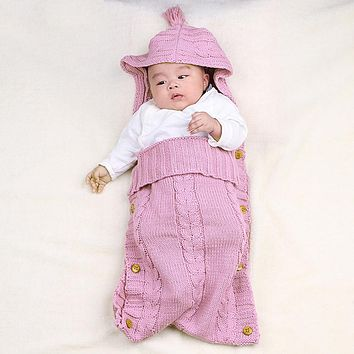 Baby Blanket Wrap Swaddle Wool Knit Baby Blankets Newborn Sleeping Bag Beding Sack Stroller Wrap For Children