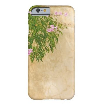 Pink roses on a wall barely there iPhone 6 case