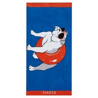 Poolside Pup Beach Towel, Beach Bulldog