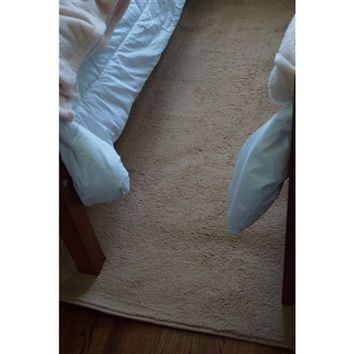UltraSoft Lamb Rug - Tan dorm room rug that brings a high carpet quality and softness to your college floor with a dorm decor style