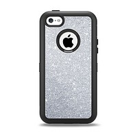 The Silver Sparkly Glitter Ultra Metallic Apple iPhone 5c Otterbox Defender Case Skin Set