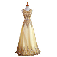 Long Bridesmaid Dresses Gold Sequins Wedding Party Dresses for Bridesmaids 2017 Prom Gown