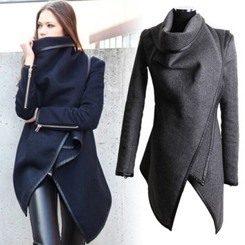 Factory-outlet 2015 New Christmas sales Women's Fashion Temperament wool coat  Gray Jacket,Spring Autumn Winter British Europe and America Fur Slim Sexy Star Style Dress,Grey T-shirt. = 1930417796