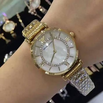 Armani Women Fashion Diamonds Quartz Movement Watch Wristwatch
