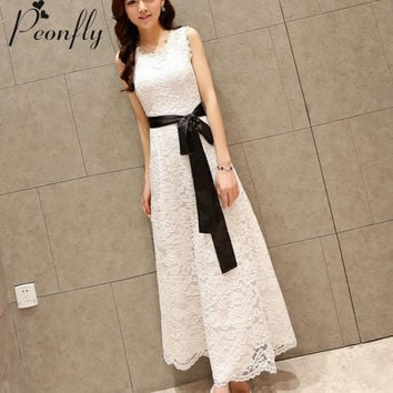 women's clothing Casual Lace Long Plus Size Summer Maxi Dress robe femme tunic vetement femme robe de plage moda praia sundress