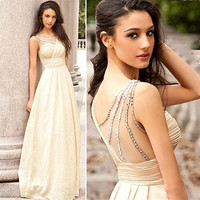 Chiffon Sleeveless Prom Dress [8358430977]