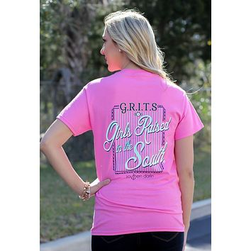 Southern Darlin GRITS Girls Raised in the South Bright Girlie T-Shirt