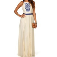 Ivory Embroidered Maxi
