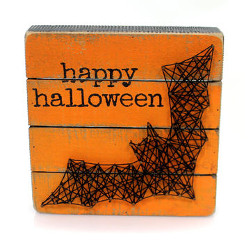 Halloween Bat Box Sign Halloween Sign / Plaque