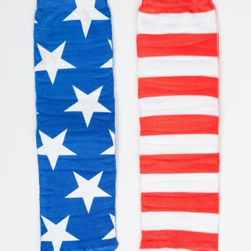 Stars and Stripes Crew Socks