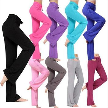 Jaswell Women Pants Latin Dance Trousers Modal Ladies Girls Fitness Exercise Practise Soft Sweatpants Loose Joggers