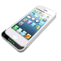 PowerBot TNT PB2200-i5 Snap-On 2200mah Battery Case for iPhone5 by EyeCandis (White)