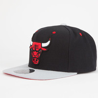 Mitchell & Ness Chicago Bulls Mens Strapback Hat Black  In Sizes 7