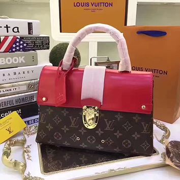 LV Louis Vuitton MONOGRAM CANVAS EPI LEATHER ONE HANDLE HANDBAG
