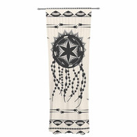 "Famenxt ""Bohemian Dream Catcher Boho"" Black Beige Decorative Sheer Curtain"