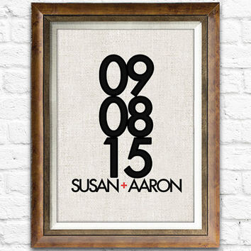 Best Wedding Gift, Important Anniversary Print, Perfect Engagements, Wedding Gifts, Sweet Home Wall Decor Choose Your Names and Dates #cf07a